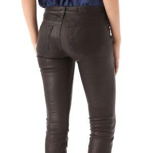 True Religion Casey Leather Skinny Jeans sz 27